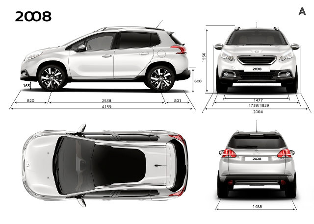 Peugeot 2008 - dimensões